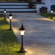 Waterproof LED Garden Lawn Light Black Glass Lampshade Practical Landsacpe Lights from Singapore best online lighting shop horizon lights