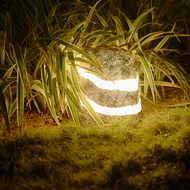 Waterproof LED Garden Lawn Light Resin Stone Shape Creative Park Villa from Singapore best online lighting shop horizon lights