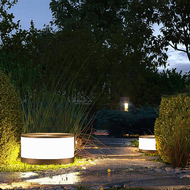 Waterproof LED Garden Lawn Light PC Metal Round Shape Simple Park Street from Singapore best online lighting shop horizon lights