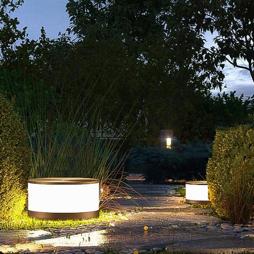Waterproof LED Garden Lawn Light PC Metal Round Shape Simple Park Street from Singapore best online lighting shop horizon lights