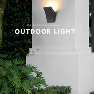 Waterproof LED Garden Wall Lamp Aluminum Gray Creative Shape Villa Yard from Singapore best online lighting shop horizon lights