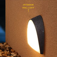 Simple Modern Style Waterproof LED Garden Wall Light Black Aluminum PVC Step Stairs Corridor from Singapore best online lighting shop horizon lights