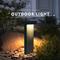 Waterproof LED Garden Lawn Light Aluminum Simple Gray/Balck Villa Park from Singapore best online lighting shop horizon lights