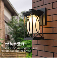 Outdoor Wall Lamp LED lighting Aluminum Case Glass shade Villa Gate  Balcony light from Singapore best online lighting shop horizon lights