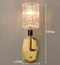 Modern Style LED Wall Lamp Glass Lampshade H65 Copper Charming Living Room from Singapore best online lighting shop horizon lights