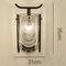 New Chinese Style LED Wall Lamp Glass Shade Metal Bedroom Living Room from Singapore best online lighting shop horizon lights