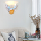 Mediterranean Style LED Wall Lamp Resin Shell  Glass Shade Bedroom Corrider from Singapore best online lighting shop horizon lights