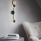 Modern LED Wall Lamp Acrylic Metal Circle Pole Simple Bedroom Living Room Decor from Singapore best online lighting shop horizon lights