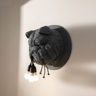 Post Modern LED Wall Lamp Resin Bulldog  Shape Decoration Bedroom Living Room from Singapore best online lighting shop horizon lights