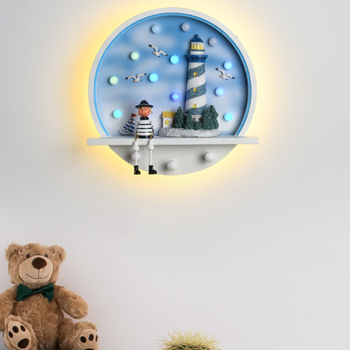 Modern LED Wall Lamp Metal Cute Cartoon Model Decorate Kids Bedroom