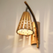 New Chinese Style LED Wall Lamp Bamboo Hand-made Hollow Out Corridor