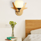 Modern LED Wall Lamp 2PCS Wooden Base Glass Lampshade Simple Bedroom