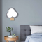 Nordic Style LED Wall Lamp Tree Shape Wooden Acrylic Lampshade Bedroom