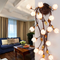 American Style LED Wall Lamp Flowers Glass Lampshade Charming Dining Room