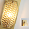 Post Modern LED Wall Lamp Gold Glass Lampshade Luxury Copper Living Room