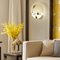 New Chinese Style LED Wall Lamp PVC Round Shape Resin Decorate Living Room