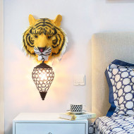 Nordic Style LED Wall Lamp Resin Tiger Glass Lampshade Decorative Living Room