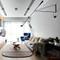 Modern LED Wall Lamp Metal Black/White Adjustable Direction Living Room