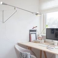 Modern LED Wall Lamp Metal Black/White Adjustable Direction Living Room from best online lighting shop Horizon Lights