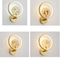 New Chinese Style LED Wall Lamp Round Shape Copper Acrylic Bedroom