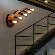 Industrial Style LED Wall Lamp Creative Metal Guitar Shape Dining Hall Bar from Singapore best online lighting shop