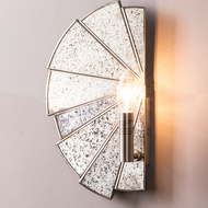 Modern LED Wall Lamp Sector Silver Stylish Luminous Bedroom Corridor