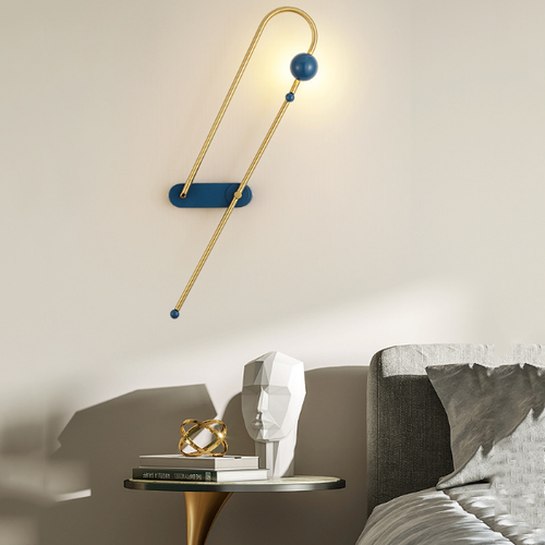 Nordic Style LED Wall Lamp Metal Magnetic Type Creative Living Room