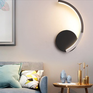 Modern LED Wall Lamp 2PCS Aluminum Acrylic Arc-Shaped Living Room Bedroom