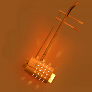 New Chinese Style LED Wall Lamp Bamboo Retro Musical Instruments Shape