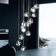 Modern LED Pendant Light Charming Crystal Decorate Creative Villa Living Room