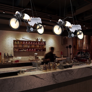 Industrial Style LED Pendant Light Creative Motorcycle Shape Bar Restaurants