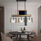 Post Modern LED Pendant Light Water Lines Glass Luxury Dining Room