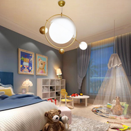 Post Modern LED Pendant Light PVC Celestial Body Design Creative Kids Bedroom