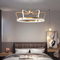 Modern LED Pendant Light PVC Crown Shape Luxury Instagram Kids Bedroom