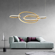 Modern LED Pendant Light PMMA Stainless Steel Circles Dining Room Living Room