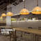 American Style LED Pendant Light Linen Made Retro Color Loft Dining Room from Singapore best online lighting shop horizon lights