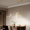 Modern LED Pendant Light Metal Simple Lines  Acrylic Lampshade Dining Room from Singapore best online lighting shop horizon lights