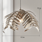 American Style LED Pendant Light Silver Metal Leaves Decorate Living Room from Singapore best online lighting shop horizon lights
