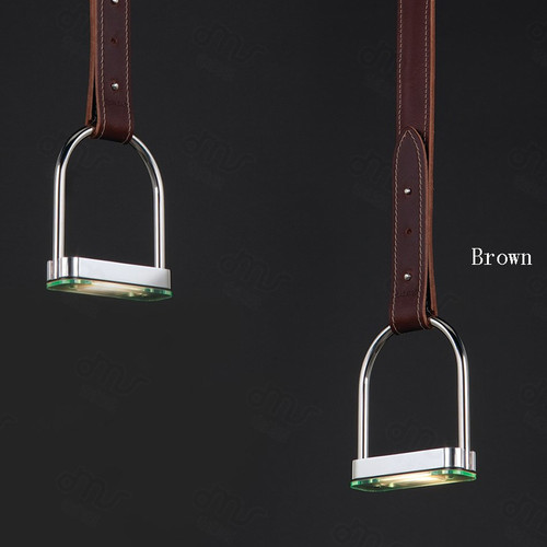 Post Modern LED Pendant Light Metal Leather Decorate Luxury Dining Room from Singapore best online lighting shop horizon lights