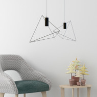 Nordic Style LED Pendant Light Metal Triangle Shape Stylish Cafe Dining Room from Singapore best online lighting shop horizon lights