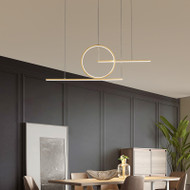 Modern LED Pendant Light Aluminum Simple Lines Acrylic Creative Dining Room from Singapore best online lighting shop horizon lights