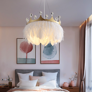 Nordic Style LED Pendant Light Feather Charming Crown Shape Kids Bedroom from Singapore best online lighting shop horizon lights