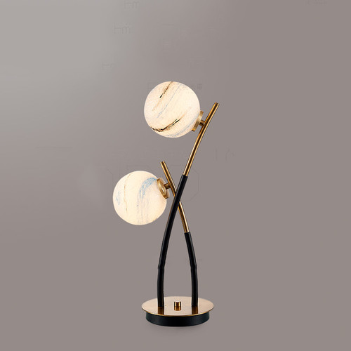 Nordic Style LED Table Lamp Glass Ball Charming Pattern Bedroom Living Room from Singapore best online lighting shop horizon lights