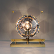 Post Modern LED Table Lamp Luxury Crystal Ball Copper Base Bedroom from Singapore best online lighting shop horizon lights