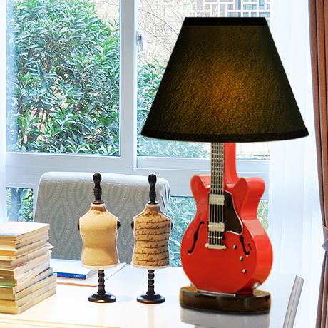Modern LED Table Lamp Resin Guitar Shape Creative Cloth Kids Bedroom from Singapore best online lighting shop horizon lights