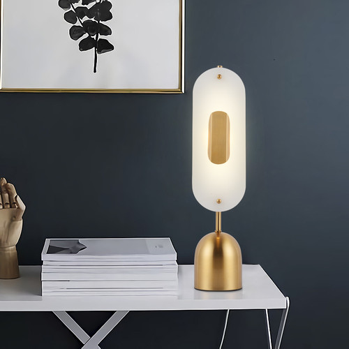 Table Lamp Acrylic  shade Golden Metal Base Modern design from Singapore best online lighting shop horizon lights