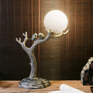 New Chinese Style LED Table Lamp Resin Bird Branch Decorate Study Room from Singapore best online lighting shop horizon lights