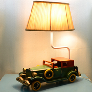 Modern LED Table Lamp Double Cloth Lampshade Old Car Shape Kids Bedroom from Singapore best online lighting shop horizon lights