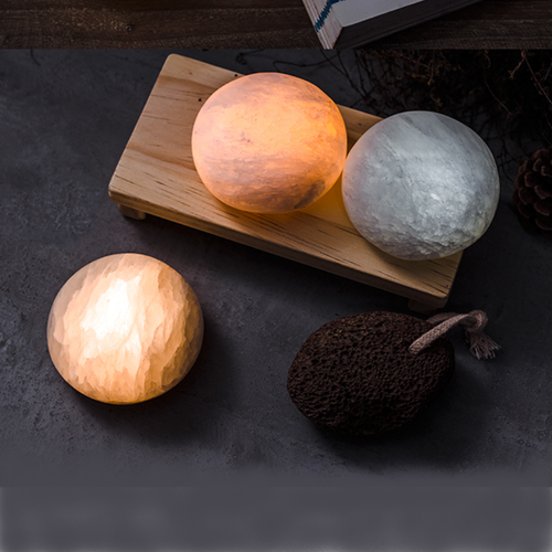 LED Night light Mineral Dumplings Shape Rechargeable Bar table from Singapore best online lighting shop Horizon Lights