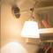 Simple Modern Style LED Wall Light Metal Base Cloth Shade Bedroom Hotel Study Room
